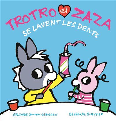 Trotro et Zaza se lavent les dents