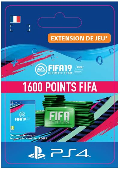Code de téléchargement FIFA 19 Ultimate Team 1600 Points PS4