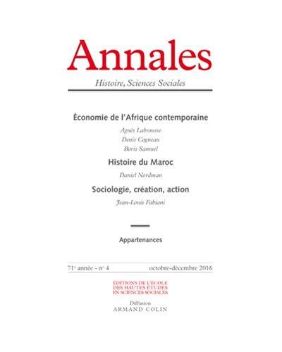 Annales histoire sciences sociales 2016/4