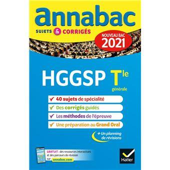 Annales du bac Annabac 2021 HGGSP Tle générale (spécialité ...