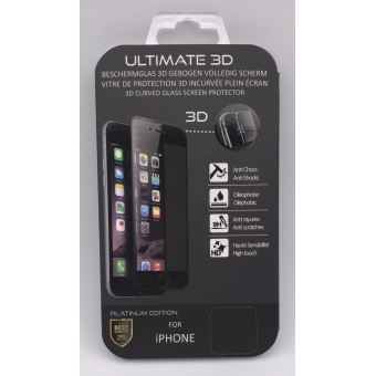 B2B Screen Protector Ultimate 3D Black Platinum Edition pour iPhone 7