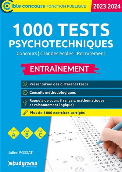 Tests psychotechniques Entrainement 2020