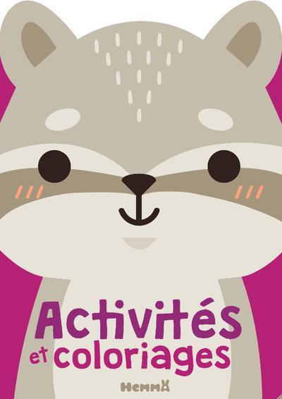 Activités et coloriages : Raton laveur