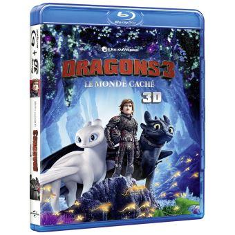 Dragons, cavaliers de BeurkDragons 3 : Le Monde Caché Blu-ray 3D