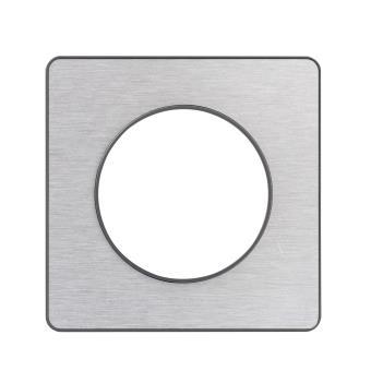 plaque d corative 1 poste schneider electric odace touch gris anthracite et aluminium bross. Black Bedroom Furniture Sets. Home Design Ideas