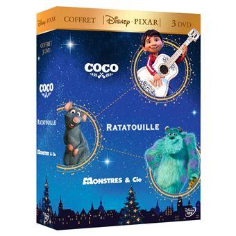 Coffret Coco Ratatouille Monstres et Cie DVD