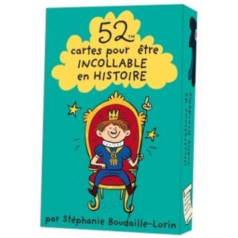 52 cartes pour être incollable en histoire