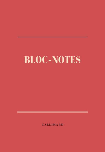 Bloc-notes feuilles détachables