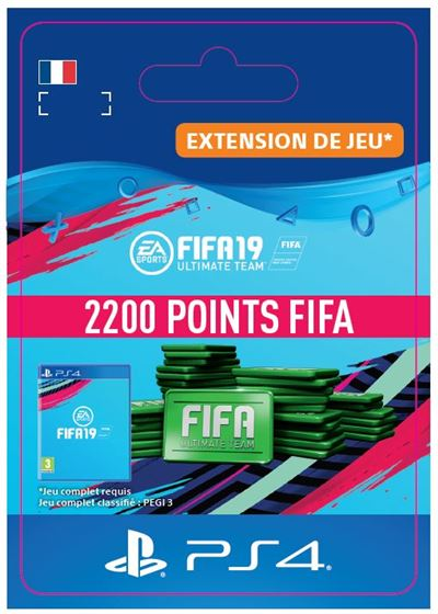 Code de téléchargement FIFA 19 Ultimate Team 2200 Points PS4