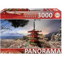 Educa Puzzel - 3000 Mount Fuji en Pagode Chureito Japan