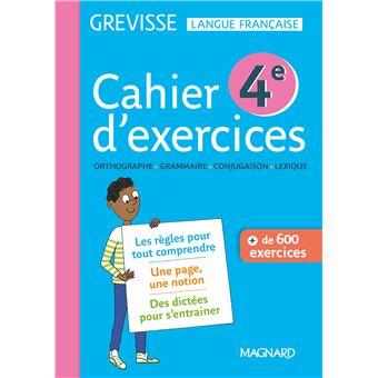 Cahier Grevisse 4e 2019