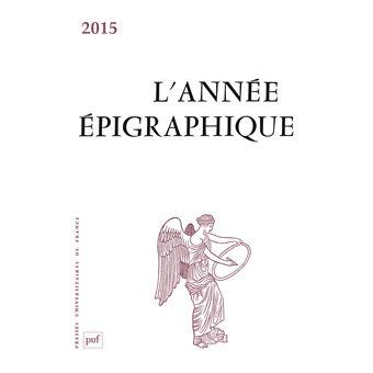 L'Année épigraphique