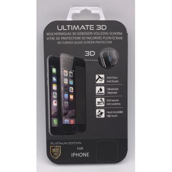 B2B SCREEN PROTECTOR IPHONE 7+ ULTIMATE 3D BLACK PLATINUM ED
