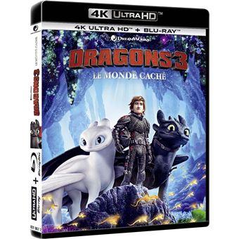 Dragons, cavaliers de BeurkDragons 3 : Le Monde Caché Blu-ray 4K Ultra HD