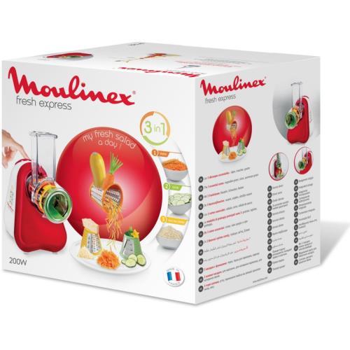 hachoir 3 en 1 moulinex fresh express dj753510 200w rouge - achat