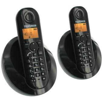 Téléphone fixe TELEFUNKEN TB202 NOIR DUO SANS REPONDEUR