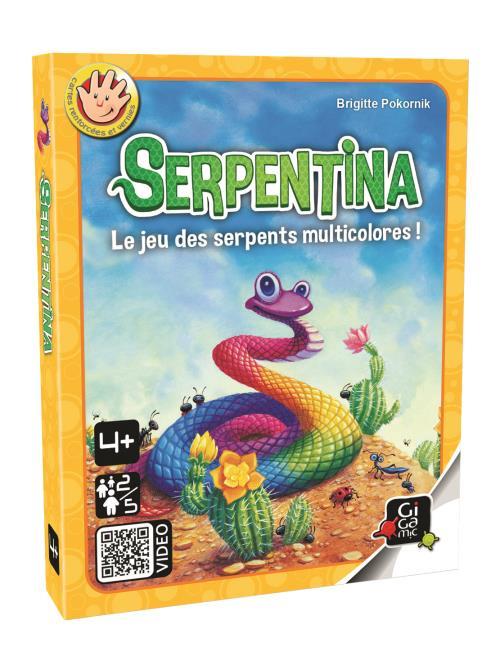 Les 50 plaques représentent la tête, le corps et la queue de gentils serpents très colorés. Il y a même des corps arc-en-ciel pour créer des serpents multicolores. Chacun tire une plaque au hasard et tente de reconstituer les serpents. Le joueur qui termi
