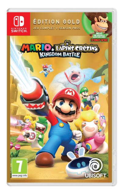 Mario + The Lapins Crétins Kingdom Battle Edition Gold Nintendo Switch