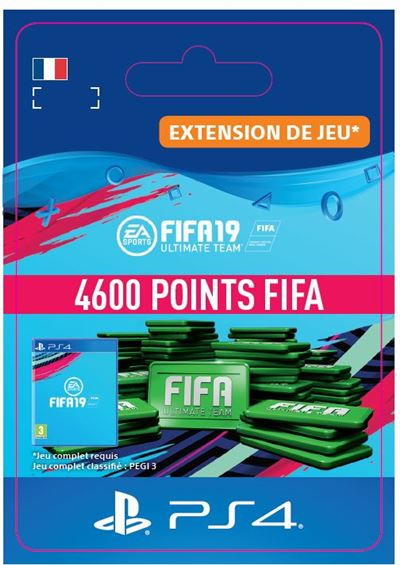 Code de téléchargement FIFA 19 Ultimate Team 4600 Points PS4