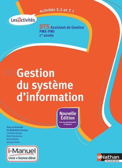 Gestion Système d'information Activités 5.3 et 7.1 BTS 1re année (Les activités)liv+licence élève 15