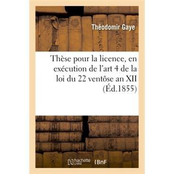 These pour la licence, en execution de l'art. 4, tit. ii de