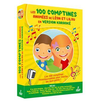 Coffret Les 100 Comptines animées de Léon et Lilou en version Karaoké DVD