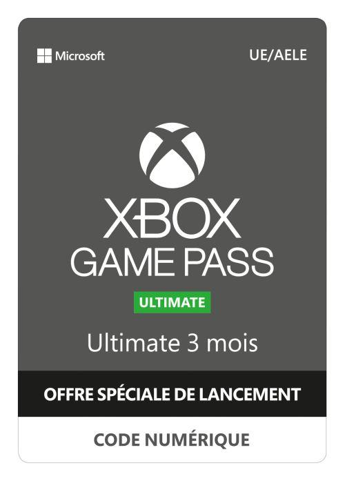 Code de téléchargement Xbox Game Pass Ultimate 3 mois dabonnement