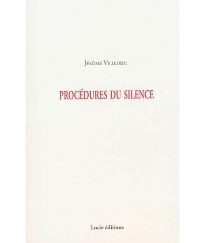 Procédures du silence