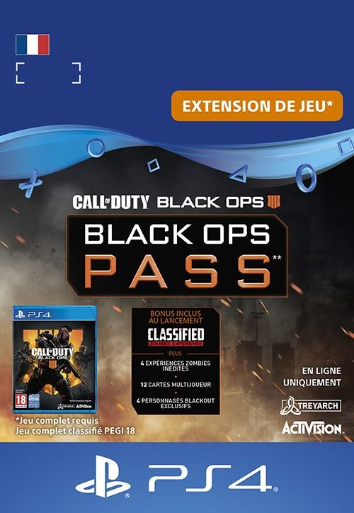Code de téléchargement Call Of Duty Black Ops 4 PS4 Black Ops Pass