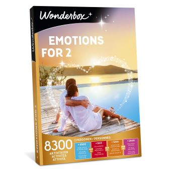 Coffret cadeau Wonderbox Emotions for 2