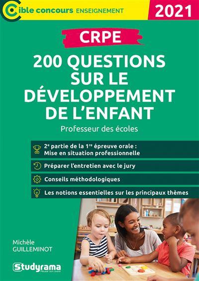 CRPE 200 questions sur le développement de l'enfant 2020