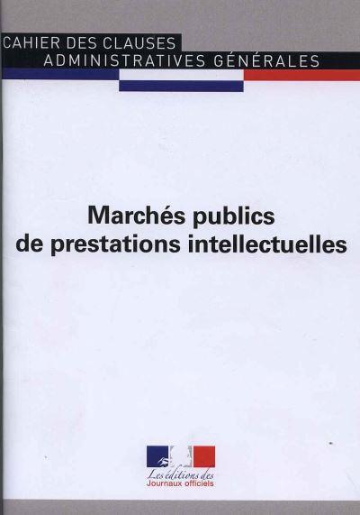 Marchés publics de préstations intellectuelles