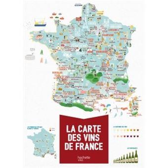 carte des vins de france poster La carte des vins de France Poster XXL (126 x 90)   broché