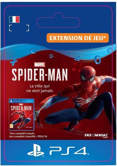 Code de téléchargement Marvel's Spider-Man La Ville qui ne dort jamais PS4
