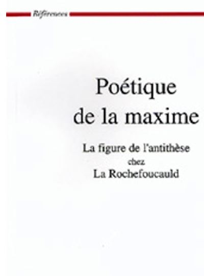 Poetique de la maxime