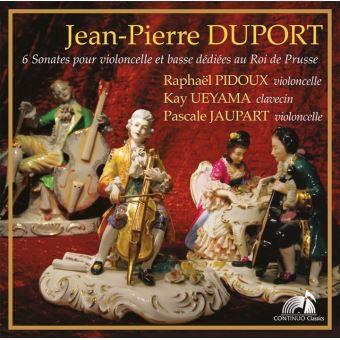 Duport, Jean-Pierre : 6 Sonates pour violoncelle et basse dédiées au Roi de Prusse