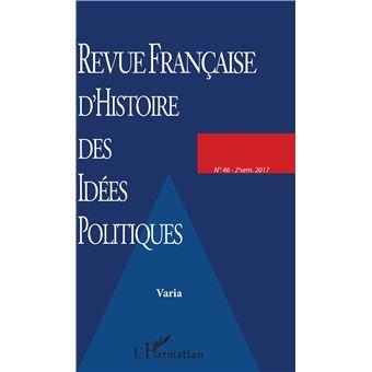 franþaise d'histoire des idees politiques,46