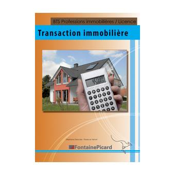 Transaction immobili re bts professions immobil res for Transaction immobiliere