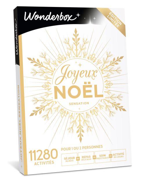 Coffret cadeau Wonderbox Joyeux Noël Sensation   Coffret cadeau
