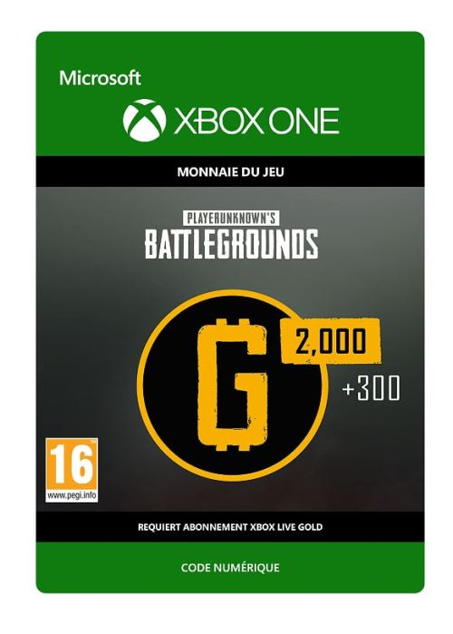 Code de téléchargement PlayerUnknown's Battlegrounds 2300 G-Coin Xbox One