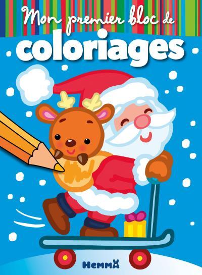 Mon premier bloc de coloriages, Noël