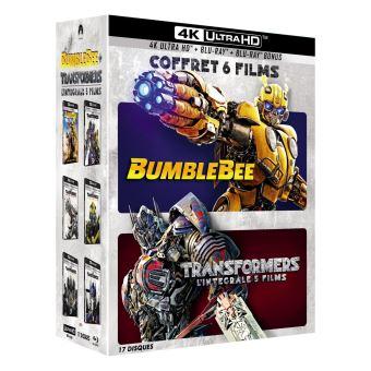TransformersCoffret Transformers L'intégrale des 5 films et Bumblebee Blu-ray 4K Ultra HD