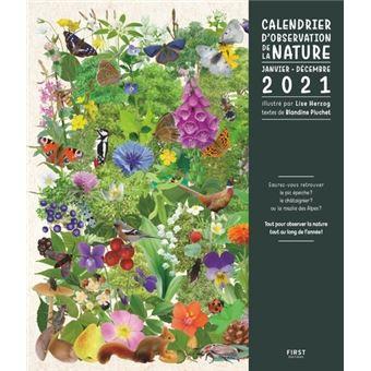 Calendrier 2021 Nature Calendrier de la nature 2021   broché   Blandine Pluchet, Lise