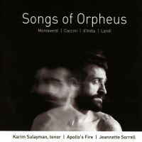 Songs of orpheus/musique vocale baroque italienne