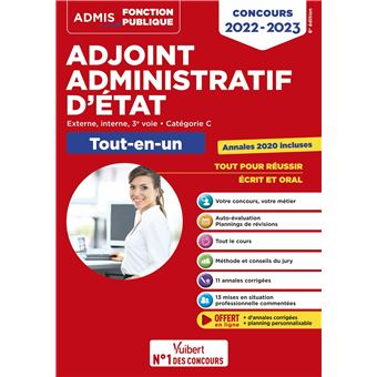 Annales concours adjoint administratif 1ere classe
