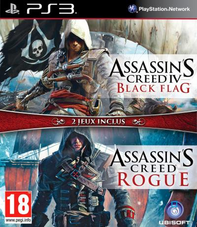 Assassin's Creed IV Black Flag + Assassin's Creed Rogue PS3