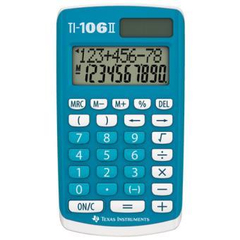 Calculatrice Texas Instruments TI 106 II, Solaire & Batterie