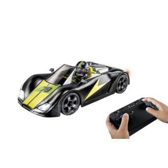 Playmobil Action 9089 Voiture De Course Noire Radiocommandee