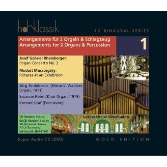 Arrangements pour 2 orgues et percussion/3d binaural series