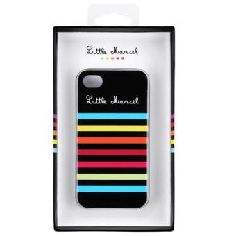 iChic Gear Coque Little Marcel pour iPhone 4 4S Rayee Noire